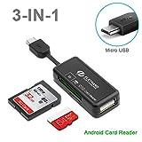 Eletrand Micro USB OTG Kartenleser, 2-Slot...